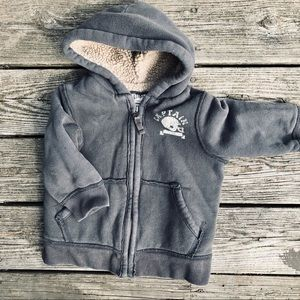 Boy's Sherpa lined zip up Hoodie